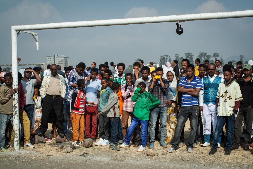 Ethiopian style goalkeeping.