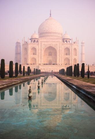 Taj Mahal in the morning pollution