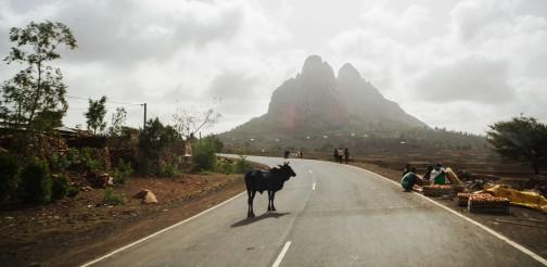Typical Ethiopian street view