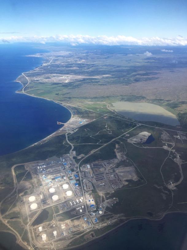 Strait of Magellan from above